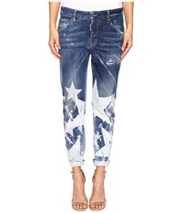 Dsquared Cool Girl Denim In Big Star Wash Blue Women's Jeans