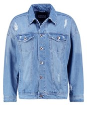 Urban Classics Denim Jacket Bleached Light Blue Denim