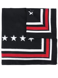 Givenchy Star Print Scarf Black
