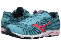 Mizuno Wave Hitogami 4 Norse Blue Diva Pink Majolica Blue Women's Running Shoes