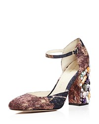 Bettye Muller Bejeweled Mary Jane Pumps Charcoal