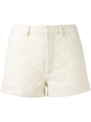Iro Embroidered Shorts Women Cotton Polyester 34 Nude Neutrals