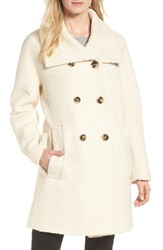 London Fog Cozy Wool Blend Coat Cream