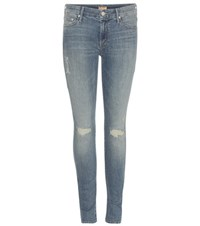 Mother The Looker Skinny Jeans Blue