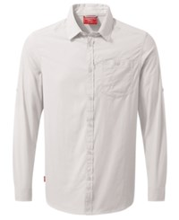 Craghoppers Nosilife Tatton Long Sleeve Shirt From Eastern Mountain Sports Optic White
