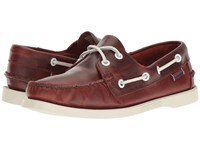 Sebago Docksides Leather Brown Oiled Waxy Leather Women's Lace Up Casual Shoes