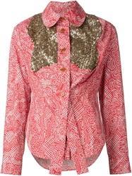 Vivienne Westwood Red Label Sequinned Panel Shirt