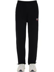 Guess Printed Cotton Jersey Sweatpants Black