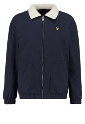 Lyle And Scott Shearling Light Jacket Navy Dark Blue