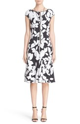 St. John Women's Collection Abstract Floral Print Dress