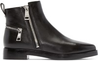 Kenzo Black Leather Ankle Boots