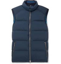 Orlebar Brown Aidey Quilted Stretch Nylon Down Gilet Blue