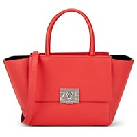 Calvin Klein 205W39nyc Bonnie Leather Shoulder Tote Bag Red