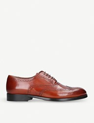 Kurt Geiger Grafton Lace Up Leather Brogues Tan