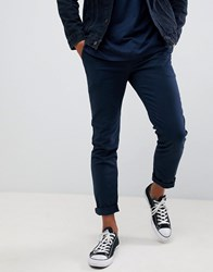 Pier One Slim Fit Chino In Navy