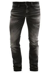 Meltin Pot Money Slim Fit Jeans Dark Grey