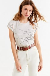 Truly Madly Deeply Landscape Sketch Tee Taupe