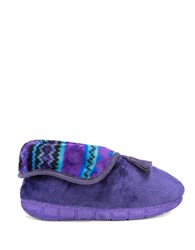 Muk Luks Fleece Fold Over Slippers Ink