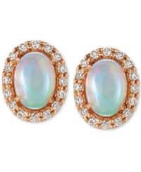 Le Vian Opal 3 4 Ct. T.W. And Diamond 1 4 Ct. T.W. Stud Earrings In 14K Rose Gold