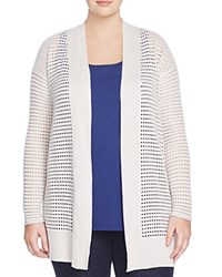 Nic And Zoe Plus Summer Soiree Open Stitch Cardigan Powder