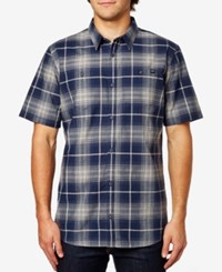 Fox Men's Short Sleeve Plaid Short Indigo