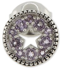 Marc Jacobs Star Disc Single Stud Earring Amethyst Silver