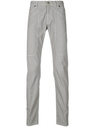 Jeckerson Patch Detail Slim Fit Trousers Grey