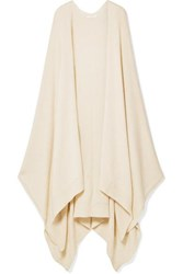 The Row Hern Asymmetric Cashmere Blend Cardigan Off White