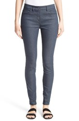 St. John Women's Collection Stretch Denim Slim Ankle Pants