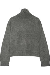 Rejina Pyo Cropped Cashmere Turtleneck Sweater Anthracite