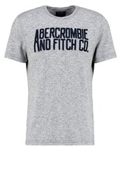 Abercrombie And Fitch Print Tshirt Grey Mottled Grey