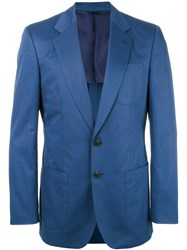 Gieves And Hawkes Casual Blazer Men Cotton 42 Blue