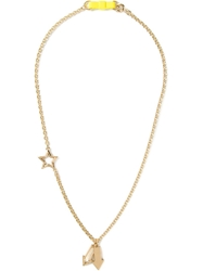 Marc By Marc Jacobs 'Pointing Bow Tie' Necklace Metallic