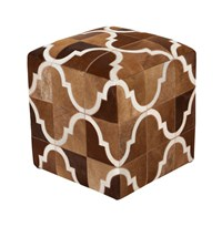 Surya Trail Cube Pouf 2 Brown