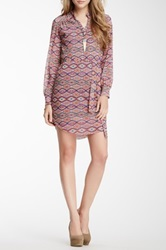 Sweet Pea Long Sleeve Tie Waist Dress Multi