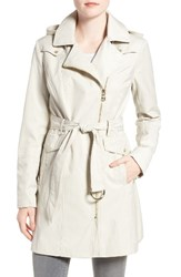 Vince Camuto Women's Belted Asymmetrical Zip Trench Coat Cashmere