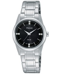 Pulsar Women's Solar Stainless Steel Expansion Bracelet Watch 28Mm Py5001