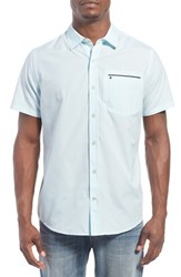Hurley Men's 'One And Only' Short Sleeve Dri Fit Woven Shirt Ice Cube Blue