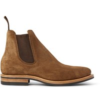 Viberg Suede Chelsea Boots Tan
