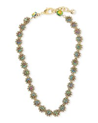 Lulu Frost Beam Riviera Crystal Necklace Gold