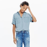 Madewell Chambray Courier Shirt In Buckley Wash