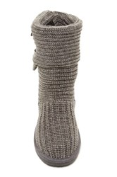 Bearpaw Knit And Genuine Sheepskin Lined Boot Gray