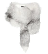 Dolce And Gabbana Fur Stole Grey