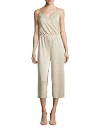 Vero Moda Ribbed Metallic Jumpsuit Moonlight