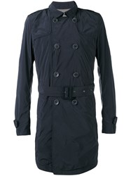 Herno Trench Coat Men Cotton Polyamide Polyester 52 Black
