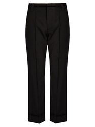 Marc Jacobs Bowie Mid Rise Cropped Wool Trousers Black