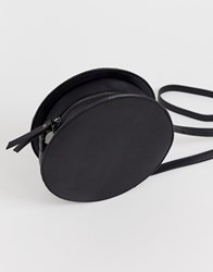 Pieces Round Cross Body Bag In Black