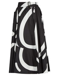 Max Mara Ali Skirt Black White