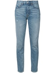 Grlfrnd High Rise Skinny Jeans Women Cotton 28 Blue