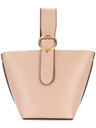 Joseph Buckle Handle Tote Leather Nude Neutrals